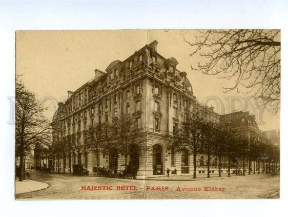 138519 france paris majestic hotel avenue kleber vintage pc. Black Bedroom Furniture Sets. Home Design Ideas